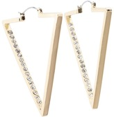 GUESS - Upside Down Triangle Hoop Earrings (Gold) - Jewelry