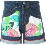I'M Isola Marras rose patch denim shorts