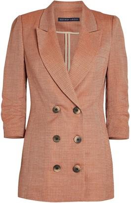 ZEYNEP ARCAY Double-Breasted Linen-Wool Blazer