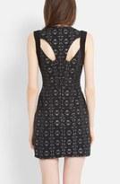 Maje 'Eclaircie' Cutout Jacquard Sheath Dress