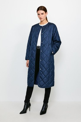 Karen Millen Lightweight Longline Quilted Coat