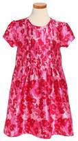 Oscar de la Renta Girl's Wild Roses Mikado Dress