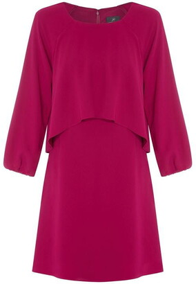 Adrianna Papell Crepe Cascading Popover Dress