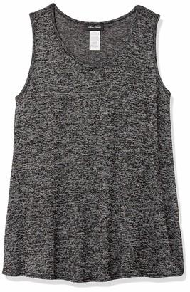 Star Vixen Women's Petite Sleeveless U-Neck Easy Fit Pullover Sweater Knit Top