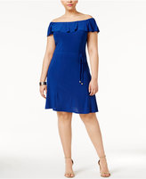 Love Squared Trendy Plus Size Off-The-Shoulder A-Line Dress