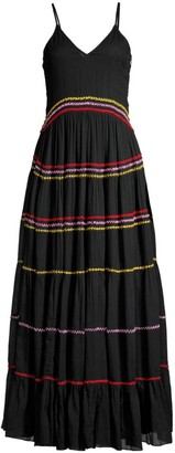 Carolina K. Marieta Multicolor Seam Maxi Dress