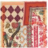 Pierre Louis Mascia Pierre-Louis Mascia floral argyle embroidered scarf