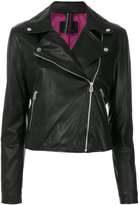 Paul Smith double-breasted zip jacket - women - Lamb Skin/Polyester/Acetate/Viscose - L