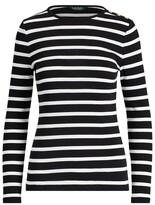 Thumbnail for your product : Lauren Ralph Lauren Ralph Lauren Striped Button-Shoulder Top