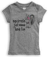 Urban Smalls Heather Gray 'Squirrels Just Wanna' Tee - Toddler & Girls