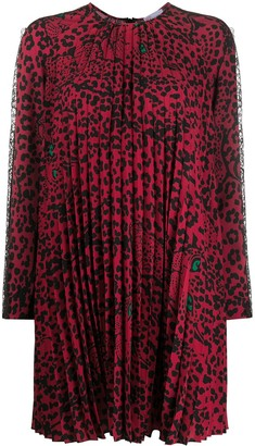 RED Valentino Leopard Print Swing Dress