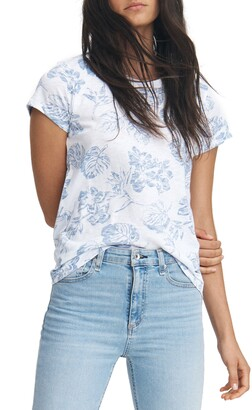 Rag & Bone Allover Tropical Graphic Tee