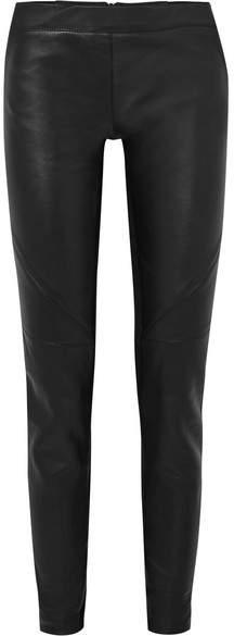 Gareth Pugh Leather And Stretch-knit Leggings - Black