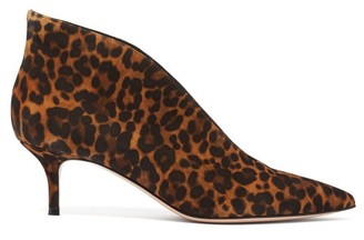 Gianvito Rossi Vania 55 Leopard-print Suede Ankle Boots - Leopard