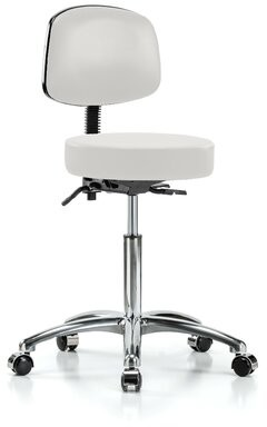 Perch Chairs & Stools Height Adjustable Doctor Stool Color: Adobe White Vinyl