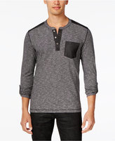 INC International Concepts Men's Demitrius Space-Dyed Pocket Henley, Only at Macy's