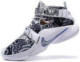OAOA Men's Lebron Soldiers 9 Basketball Shoes Black White 7 D(M) US=40EU