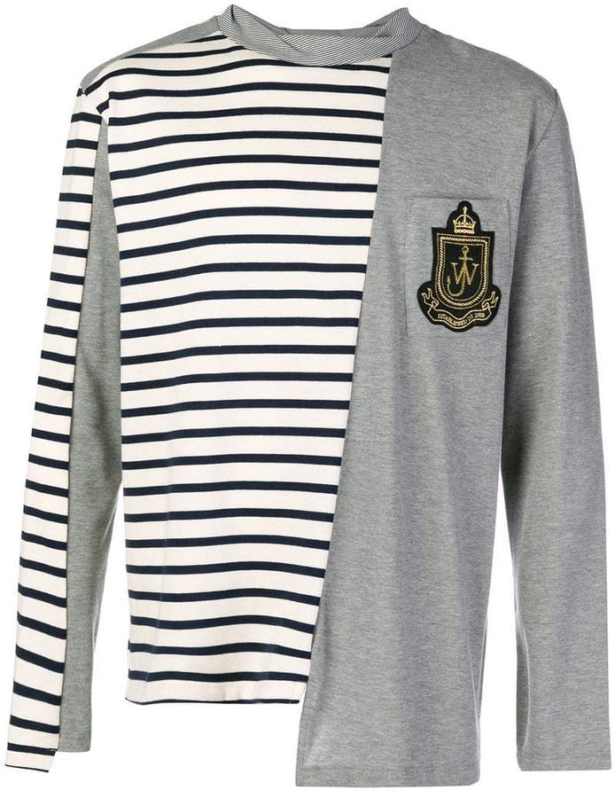 J.W.Anderson striped color blocked long sleeve shirt