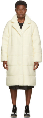 Moncler Reversible Off-White Bagaud Sherpa Coat