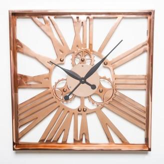 J & K Europe Imports Gear Clock Large Copper