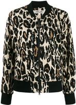 Diane von Furstenberg animal print bomber jacket