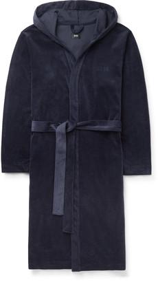 HUGO BOSS Cotton-Blend Velour Hooded Robe