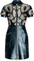 Leka Black & Gold Leather Dress