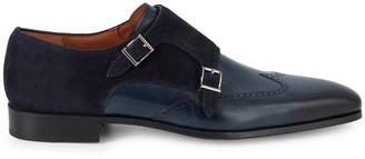 Magnanni Double Monk Strap Leather Dress Shoes