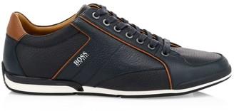 HUGO BOSS Saturn Low-Top Leather Sneakers