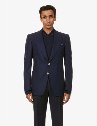 Tom Ford Single-breasted wool and mohair-blend jacket