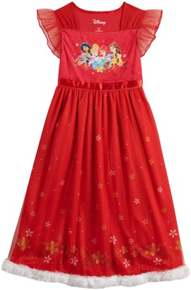 Disney Disney's Princesses Girls 4-8 Christmas Fantasy Nightgown