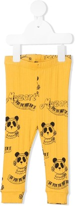 Mini Rodini Mozart panda-print leggings