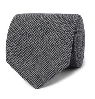 Oliver Spencer 8cm Puppytooth Organic Cotton-Blend Tie