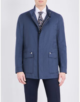 Brioni Geometric-print Wool Flight Jacket