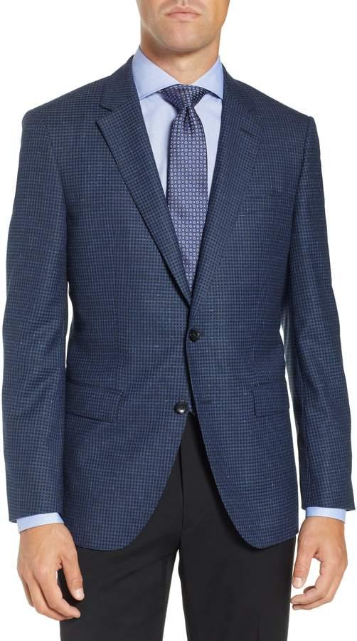BOSS T-Heel Slim Fit Houndstooth Sport Coat