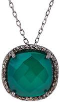 Adornia Fine Silver 3.30 Ct. Tw. Diamond & Green Onyx Necklace