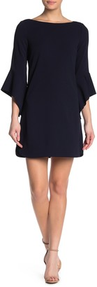 Vince Camuto Bell Sleeve Shift Dress