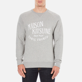 MAISON KITSUNÉ Men's Palais Royal Sweatshirt Grey Melange