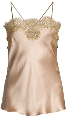Gilda And Pearl Gina Lace-Trim Silk Camisole