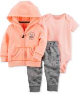 Carter's 3-Pc. Hoodie, Bodysuit & Pants Set, Baby Boys