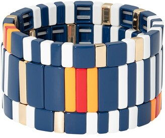 Roxanne Assoulin In Stripe set of three bracelets