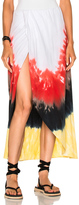 Baja East Tie Dye Cotton Skirt