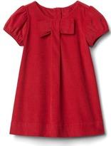 Gap Big bow cord dress