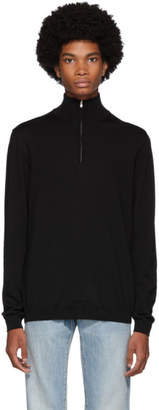 Norse Projects Black Merino Half Zip Fjord Sweater