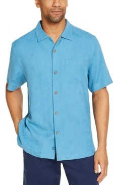 Tommy Bahama Men's Tiki Grill Classic-Fit Embroidered Palm-Jacquard Silk Camp Shirt