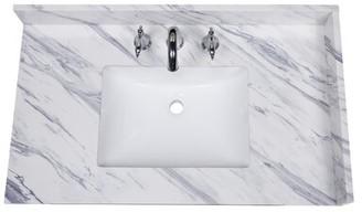 "Calacatta 37"" Single Bathroom Vanity Top Renaissance Vanity"