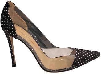 Gianvito Rossi Plexi Black Plastic Heels