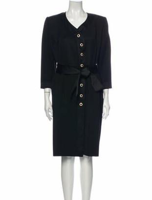 Saint Laurent Vintage Midi Length Dress Black
