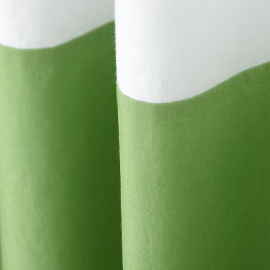 "63"" Color Edge Curtain (Green)"