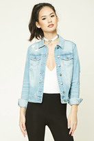 Forever 21 FOREVER 21+ Distressed Denim Jacket